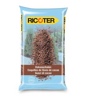 Coquilles de fèves de cacao